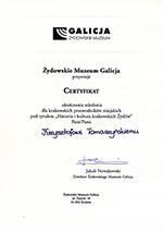 Szkolenie dla Przewodników - Muzeum Żydowwskie Galicja