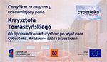Licencja na oprowadzanie po wystawie Cyberteka Kraków - czas i przestrzeń